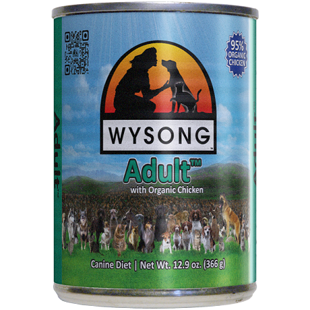 WYSONG Adult™ with Organic Chicken case 12-12.9oz can