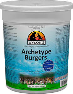 WYSONG Archetype Burgers 20 oz. Canister