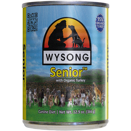 WYSONG Senior™ with Organic Turkey (CASE of 12 - 12.9 oz. Can)