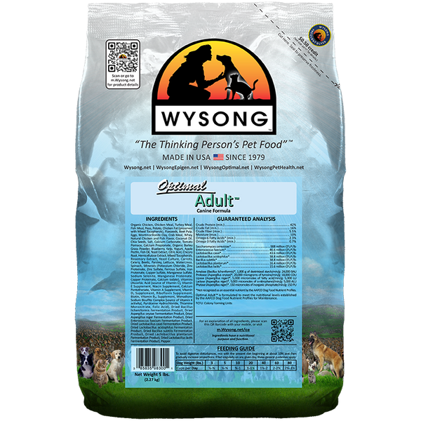 WYSONG Optimal Adult™ Premium Dog Food  40 LB