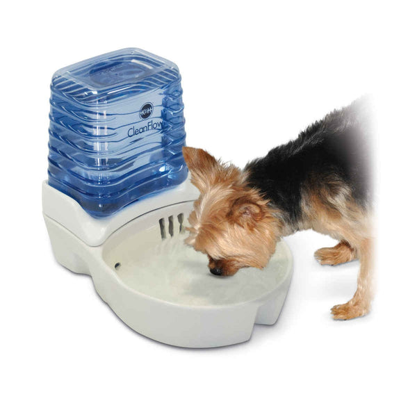 "K&H Pet Products CleanFlow Dog Ceramic Fountain with Reservoir 170 oz. Small Off-White 11.5"" x 9"" x 10.5"" - KH2581"