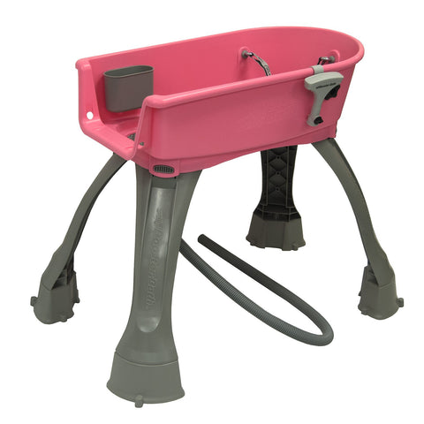 "Booster Bath Elevated Dog Bath and Grooming Center Medium Pink 33"" x 16.75"" x 10"" - BB-MED-PINK"