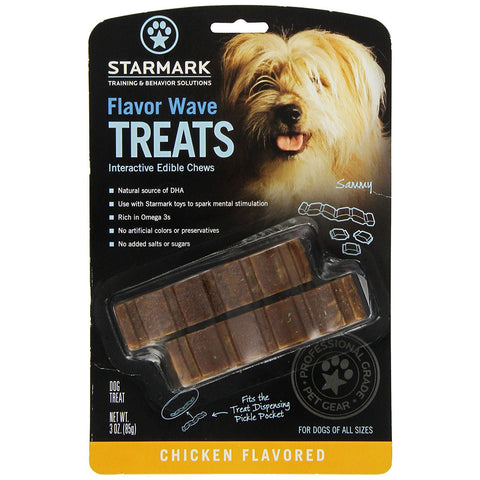 "Starmark Flavor Waves Treat Brown 4"" x 0.25"" x 1"" - SMFWUS"
