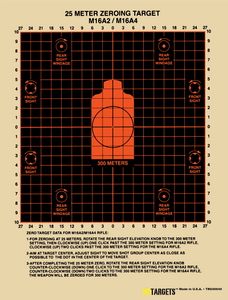 "M-16, 8-3/4"" x 12"" (TRG00649) - HDTARGETS"