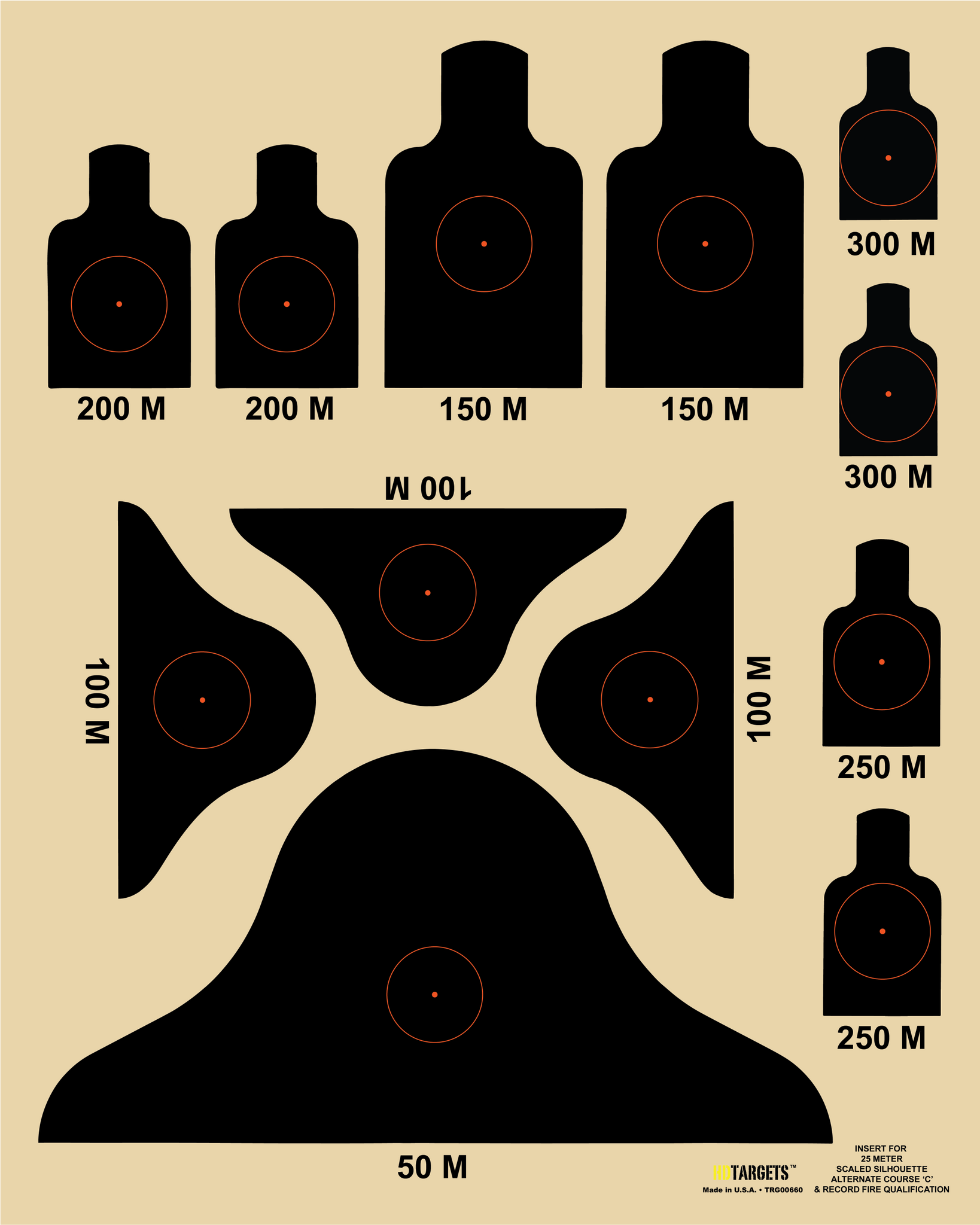 "Alternate 'C' Course Insert, 16"" x 20"" (TRG00660) - HDTARGETS"