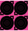 "6"" Circle 4-Up Pink Target, 12-1/2"" X 13"" - 100 Sheets(TRG00718) - HDTARGETS"