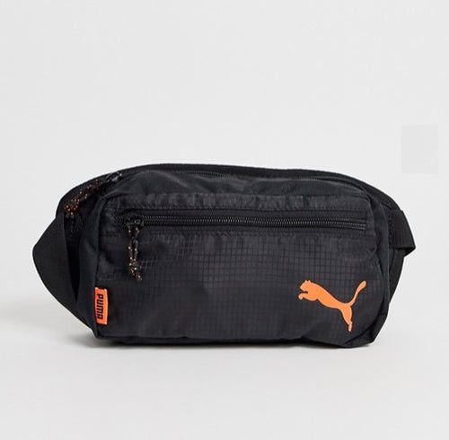 Puma Waist Bag (Black-Orange) - DistriSneaks