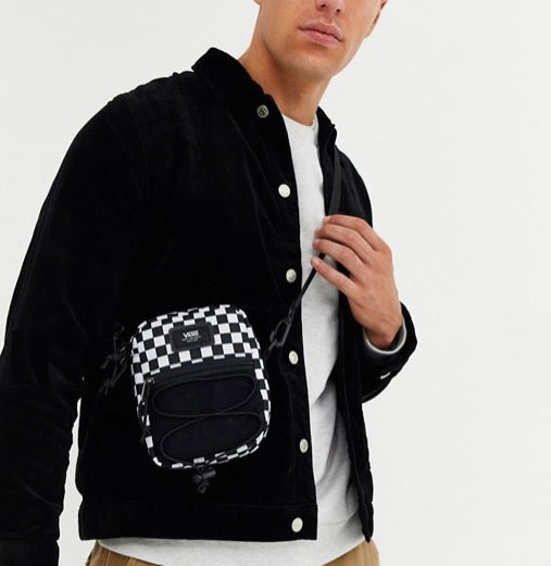 Vans Checkered Shoulder Bag (Black-White) - DistriSneaks