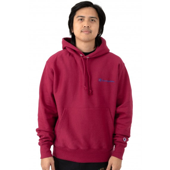 Champion Script Champion Wording Pullover Hoodie (Red) (Mens) - DistriSneaks