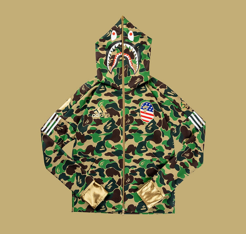 Adidas x Bape Super Bowl Hoodie (Green) - DistriSneaks
