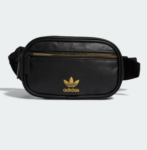 Adidas Faux Leather Waist Pack (Black-Gold) - DistriSneaks