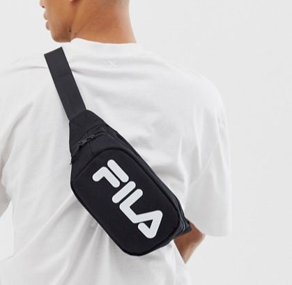 Fila Bum Bag (Black with White Wordings) - DistriSneaks