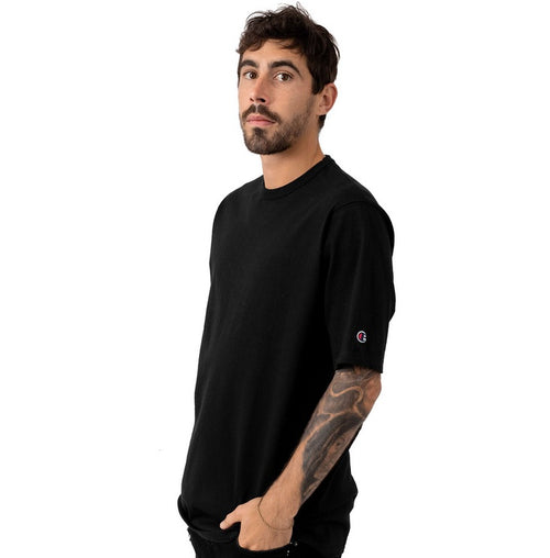 Champion Heritage Plain Tee (Black) - Men - DistriSneaks