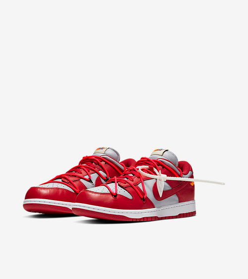 Nike Off White Dunks Low White Red - DistriSneaks