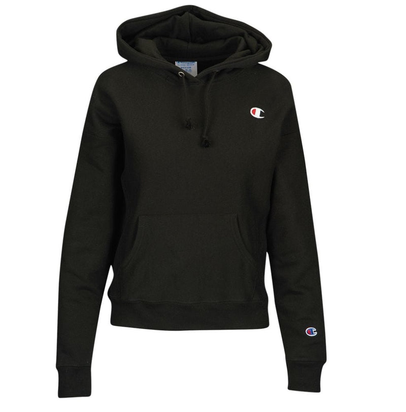 Champion Logo Pullover Hoodie (Black) - Womens - DistriSneaks