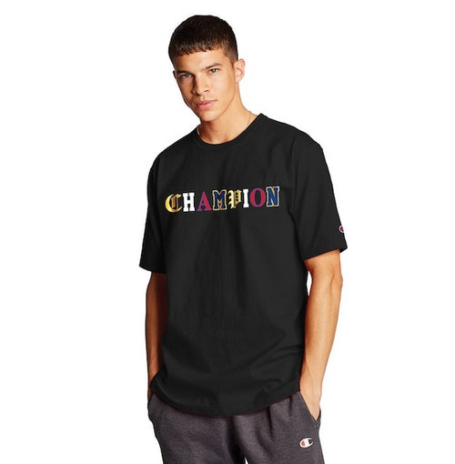 Champion Old English Tee (Black) - DistriSneaks