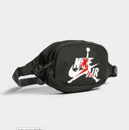 Jordan Jumpman Waist Bag (White-Red Logo) - DistriSneaks