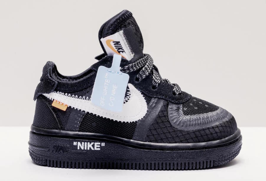 best sneakers f017e 64711 Nike x Off White Air Force 1 Black (Toddler)