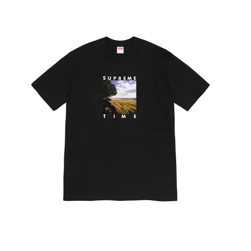 Supreme Tee Supreme Time Black SS20