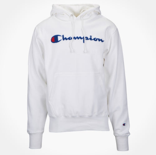 Champion Chainstitch Pullover Hoodie (White) - DistriSneaks