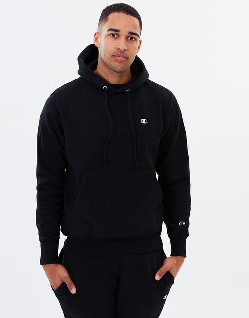 Champion Small Logo Reverse Weave Pullover Hoodie (Black) - Mens - DistriSneaks