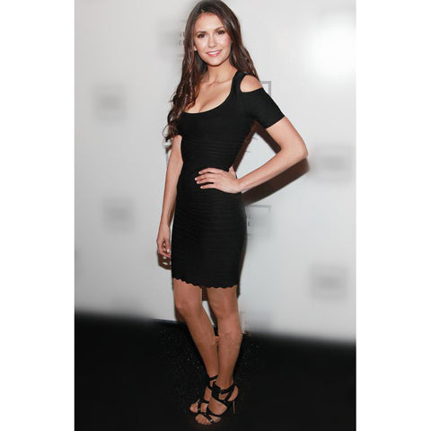 Classic Little Black Bandage Dresses with Sleeves
