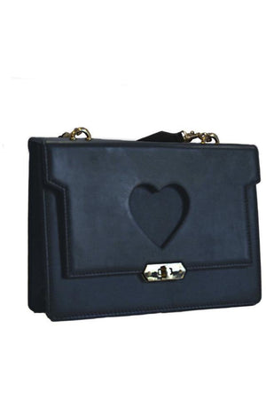 Hearts at Midnight Handbag - Bitsy Stoneking