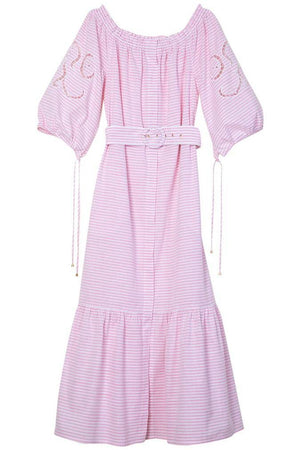 The Alexa Pink and White Striped Dress