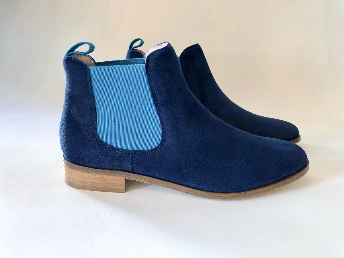 Blue Suede Boot