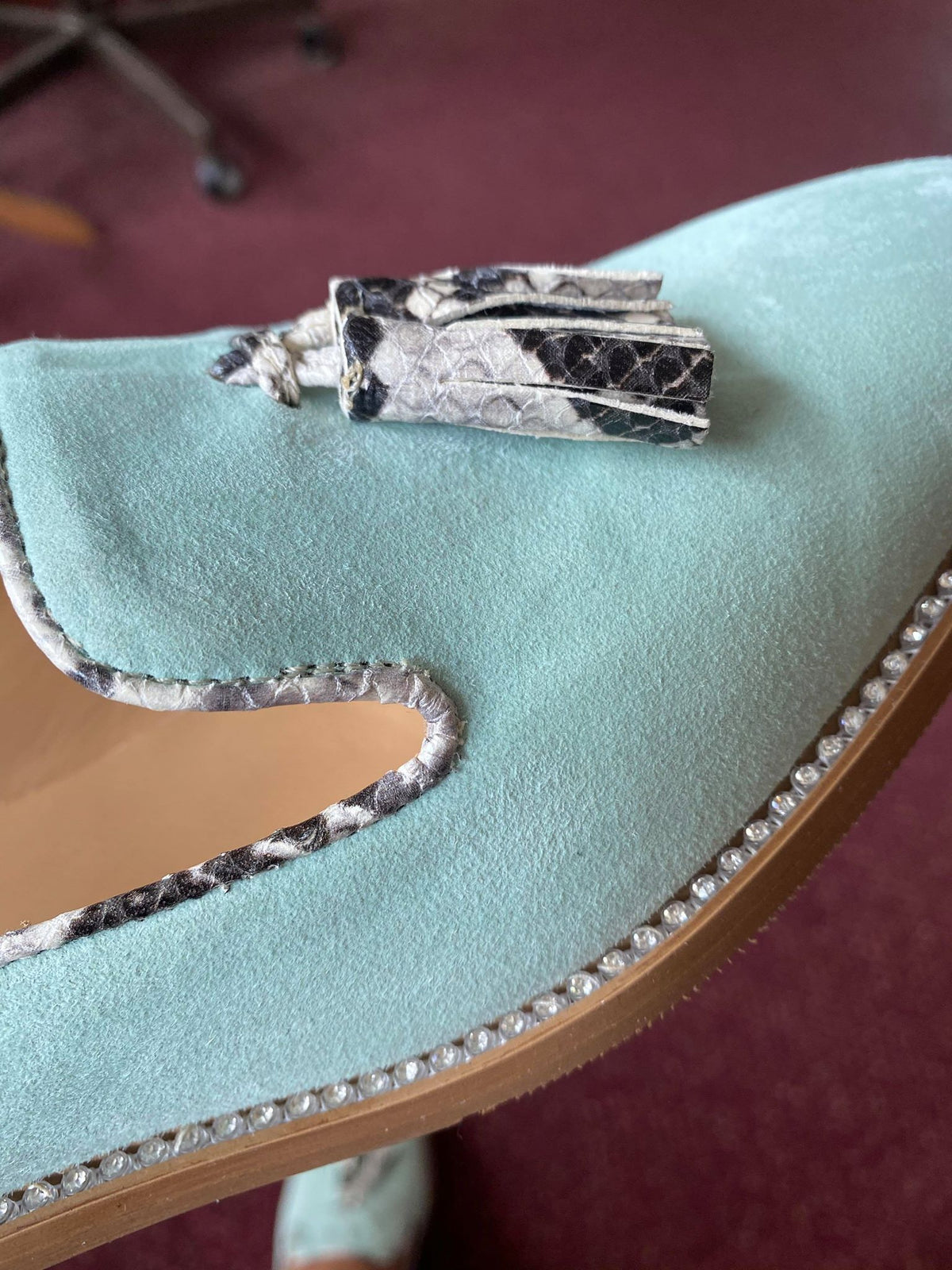 Mint Suede Loafer