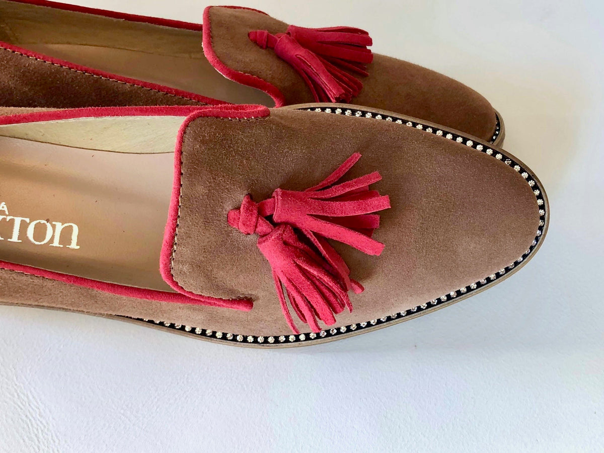 Tan Tassel Suede Loafer