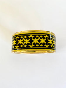 Enamel Hinged Bangle Bracelet
