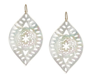 Mother of Pearl Marquis Earrings