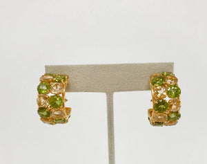 Peridot & Citrine Hoop Earrings