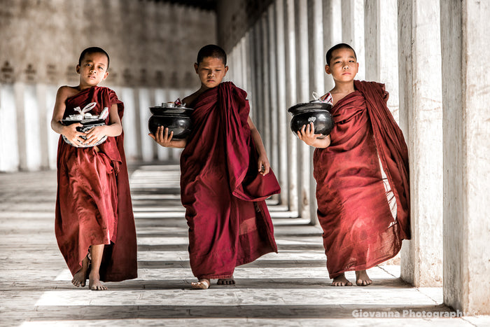 Monks with Alm Bowls