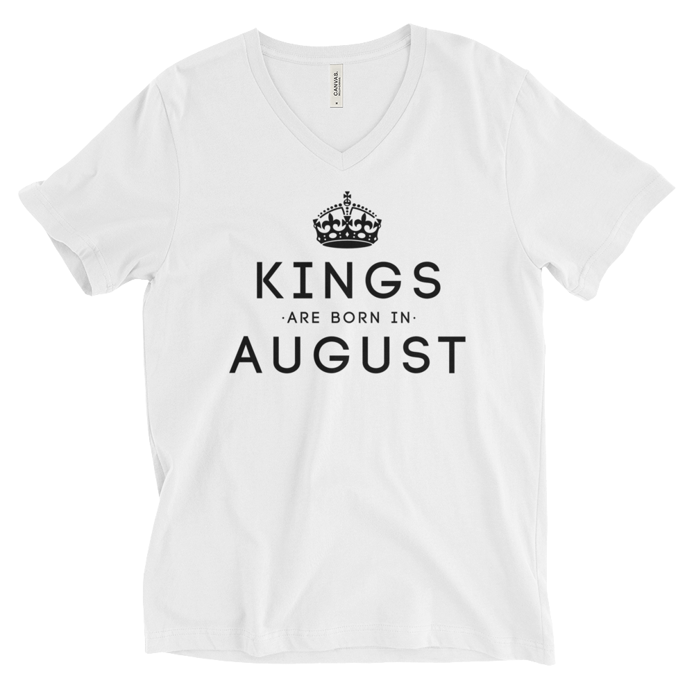 Kings Are Born In August V-Neck