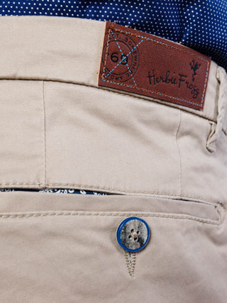 A slim fit beige chino from Herbie Frogg