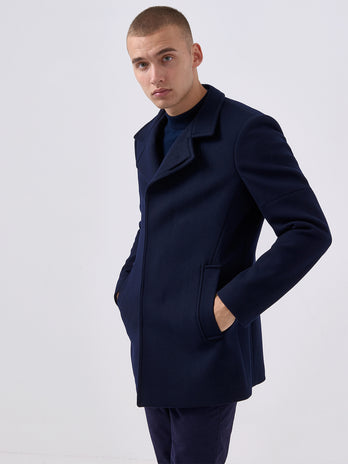 remus uomo navy coat