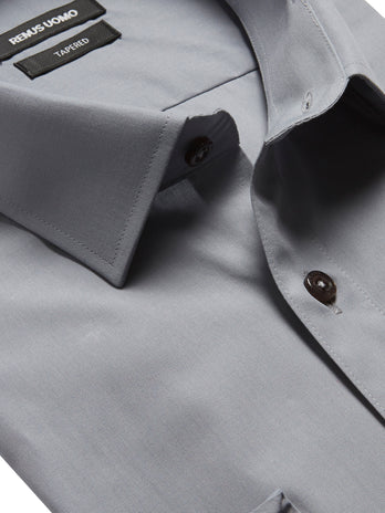 remus uomo formal shirts in grey