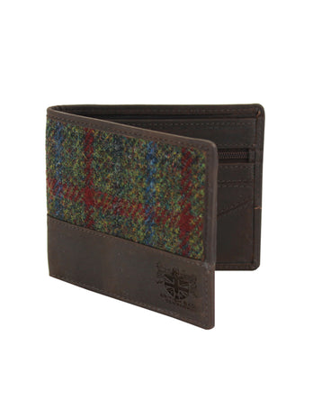 Green Tweed & Leather Wallet