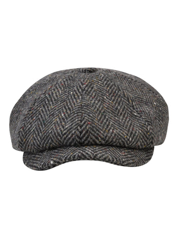 Grey Tweed Baker Cap