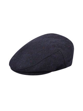 Navy Salt & Pepper Tweed Cap