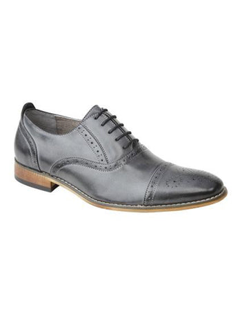 Grey Capped Oxford Brogue Shoe