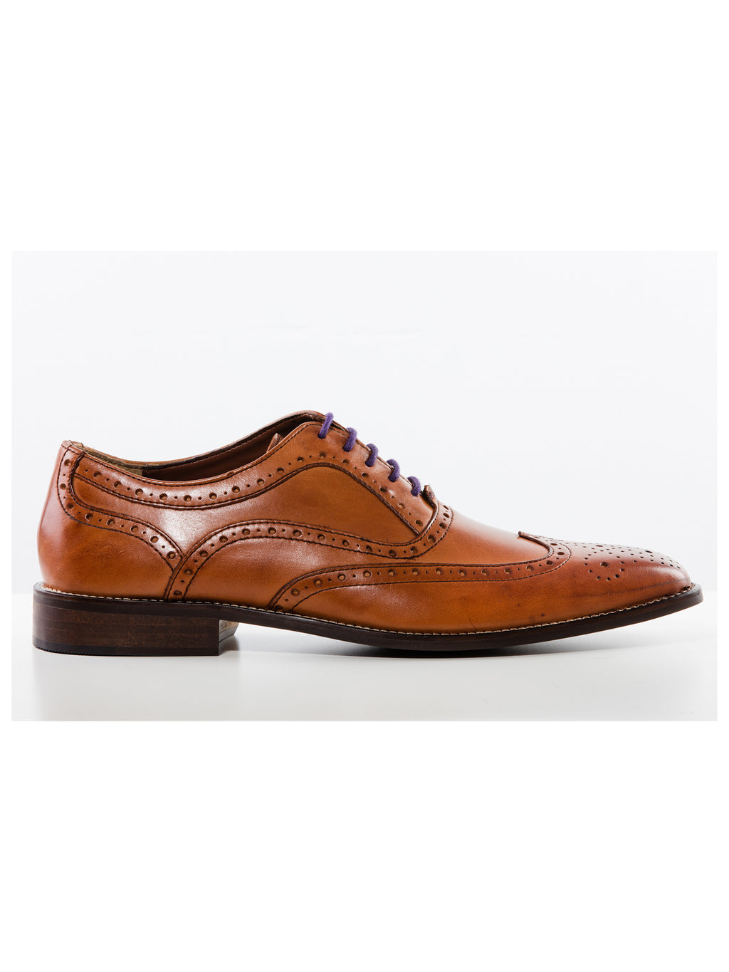 Tan Chisel Toe Brogue