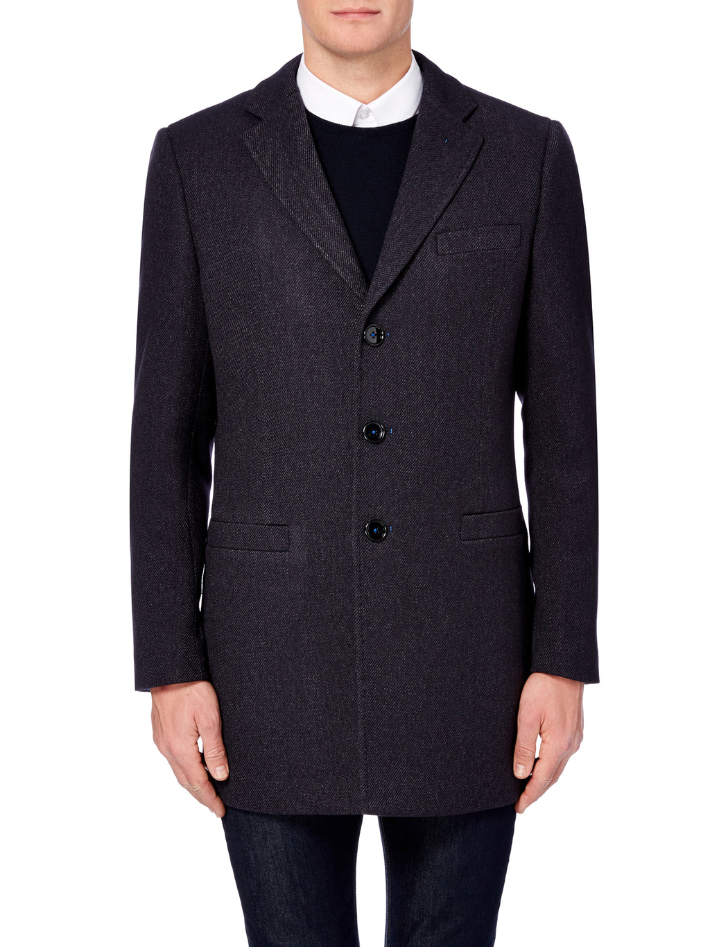 mens jackets by remus uomo navy wool mix