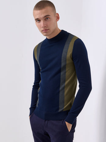 Navy Turtle Neck Sweater
