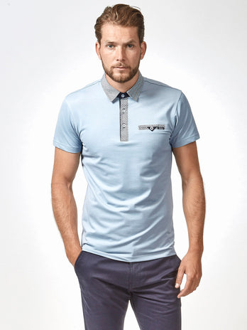 Light Blue Clifton Polo Shirt