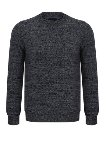 Navy and White Crew Neck Sweater