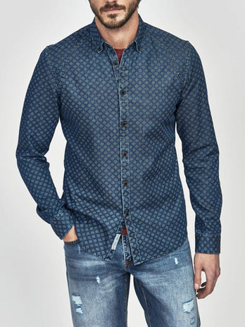 Tapered Fit Navy Paxton Shirt