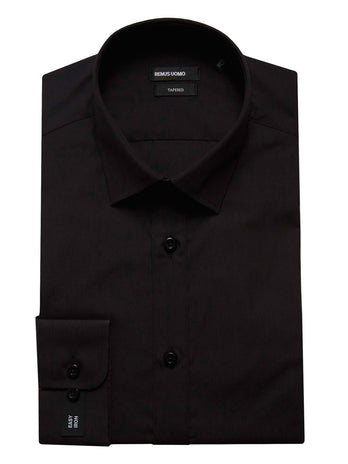 Tapered Fit Black Shirt